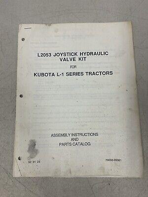 Kubota Assembly Instruction Parts Catalog L2053 Joystick Hydraulic L-1 Series