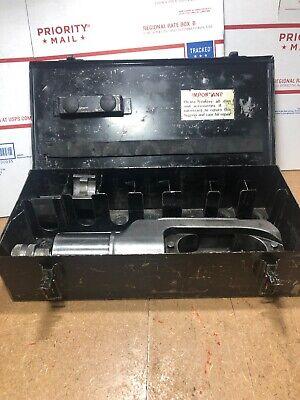 Burndy Y46 Hypress Remote Hyd. Power Op. Crimping Tool Case W Dies Adapter