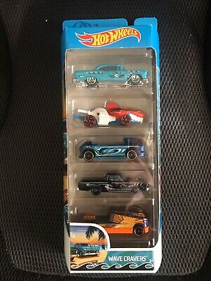 Hot Wheels 5 Pack Wave Cravers Car Set NEW Sealed Unopened Cars