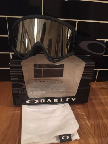 Oakley O Pro Frame Carbon Black Iridium Lens Mx Goggles Sale Price Save ££