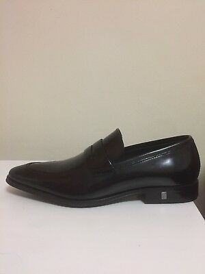Versace Collection Black Patent Leather Dress Shoes Loafers Mens Sz 7