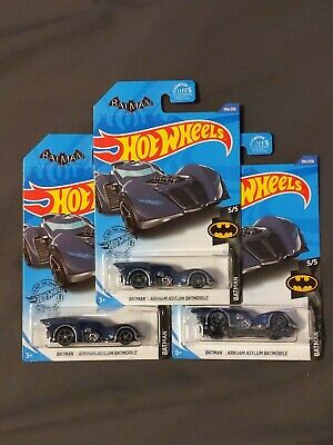 2020 Hot Wheels Treasure Hunt ~E-Case~ BATMAN: ARKHAM ASYLUM BATMOBILE -Lot Of 3