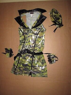Womens ARMY SOLDIER Sexy Halloween Costume S Sm Dreamgirl