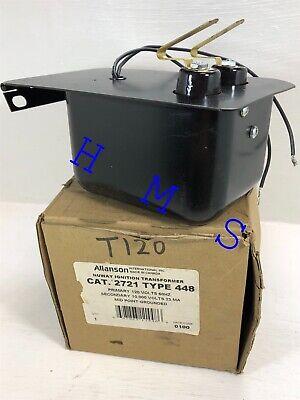 Allanson T120 Sid Nuway Ignition Transformer Cat 2721 Type 448 Mid Point Ground