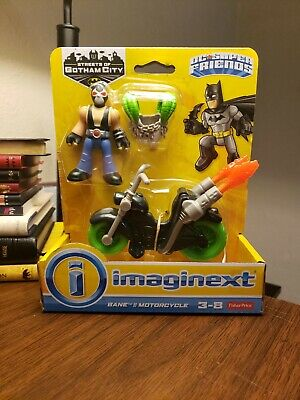 "Imaginext DC Super Friends Batman Streets of Gotham 3"" Bane & Motorcycle"