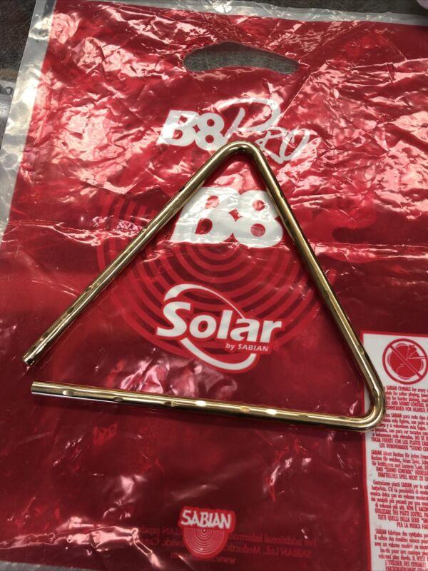 "Sabian Hand Hammered Triangle 8"" Bronze S-761"