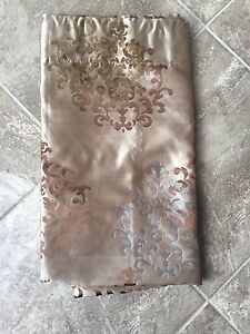 2 Brown Rod Pocket curtains