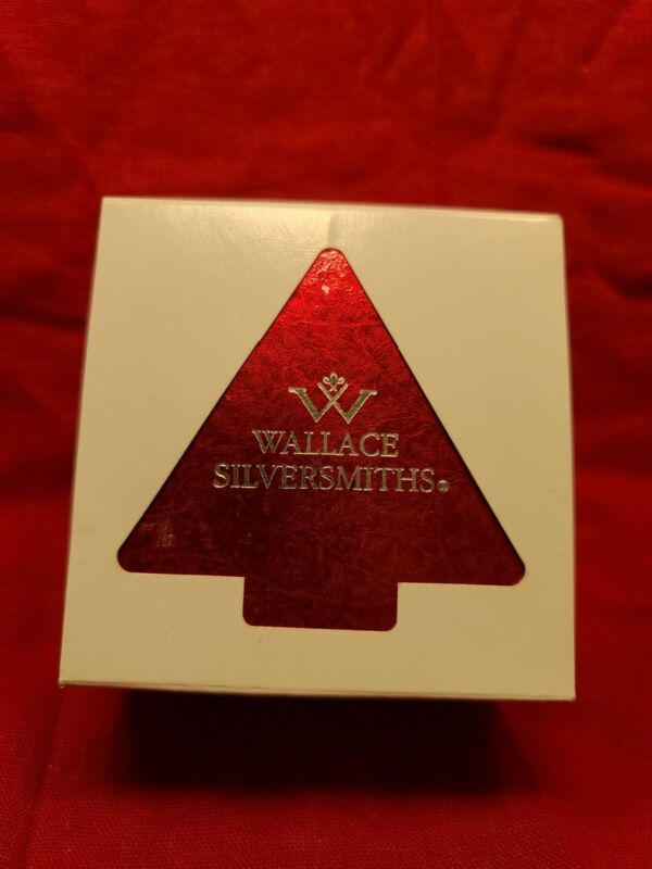 Wallace Silversmiths 2002 Silver Plated Sleigh Bell Christmas Ornament - *C-9