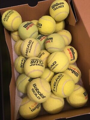 24 MIXED BRAND TENNIS BALLS - FREE P&P