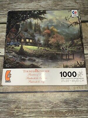 Thomas Kinkade 1000 Piece Puzzle Peaceful Moments Complete Fast Ship
