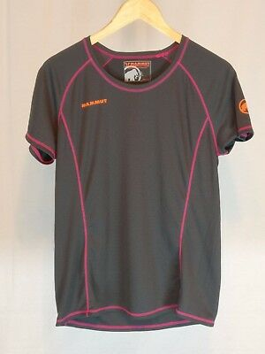 Womens Large Gray Pink Mammut Eiger Extreme Short Sleeve Athletic Shirt  L