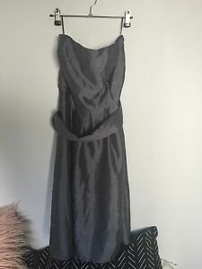 Charcoal lined Bridesmaids dress Sandgate Brisbane North East Preview