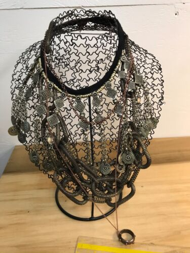 "Two metal  necklace  displays 11"" tall -  Making Display & Packaging Supplies"