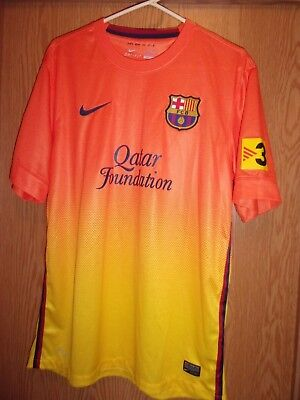 UNICEF orange yellow NIKE QATAR Foundation L dri Fit nylon jersey LFP Foundation Fitted T-shirt