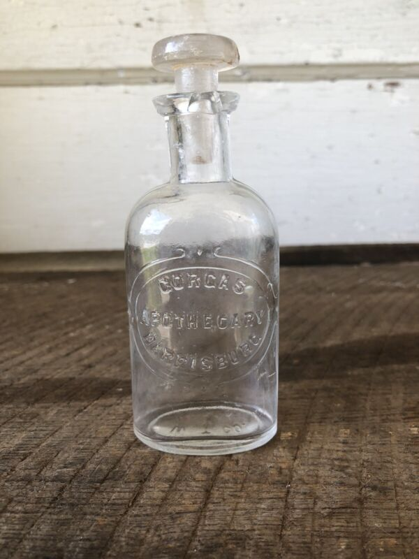 Antique Bottle Pharmacist Apothecary Harrisburg PA 1800's