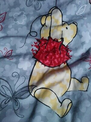 Disney Scrub Top Winnie The Poo Light Gray XL Women's Shirt