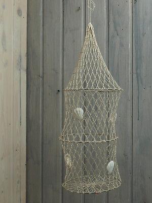 Deko Fischreuse Reuse ca. 50x16,5cm mit Muscheln für die maritime Dekoration