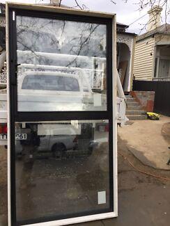 Awning window. Black aluminium argon filled. Double glazed