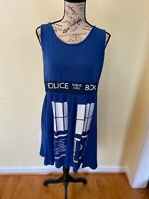 Womens Dr Who Costume (Dr Who Her Universe Flare Dress Costume Cosplay Tardis Sz XL Hot Topic)