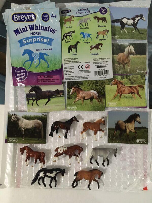 Breyer Mini Whinnies Horse Surprise. Series 4. Lot Of 7 Mini Horses