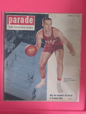 Don Schlundt Indiana Basketball Parade Magazine The Roanoke Times Dec 12  1954
