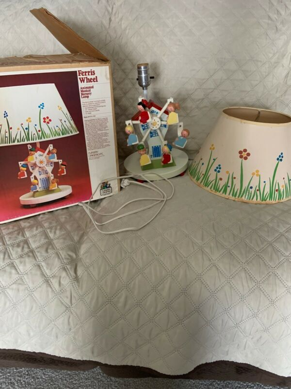 Nursery Originals Ferris Wheel Little People Lamp & Music Box *Works*