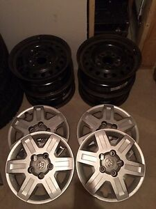 4 Michelin winter tires on grand caravan rims