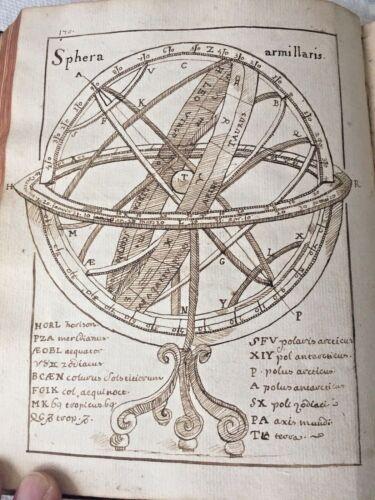 Mid 18th C Handwritten Astronomy Scientific Manuscript book Illustrated Drawings