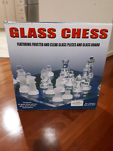 Brand new Glass chess Bassendean Bassendean Area Preview