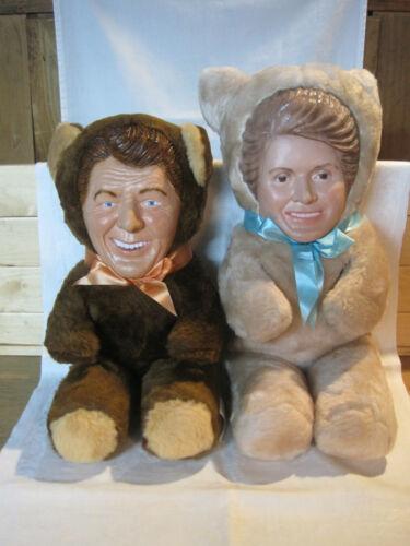 President Ronnie Bear & First Lady Nancy Bear by Wes Soderstrom 1981 Very Rare