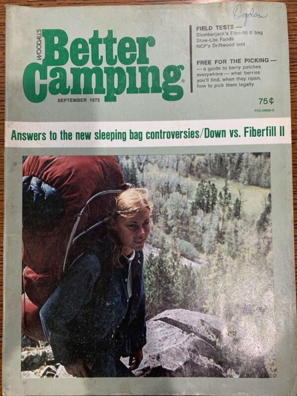 September 1973 Better Camping Magazine Sleeping Bag Controversies