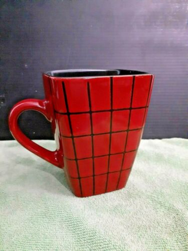14 oz Red Ceramic Coffee Mug