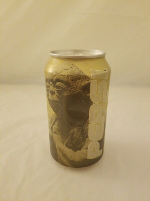 Factory Sealed Empty Pepsi Star Wars Episode I Limited Edition Gold Can Yoda