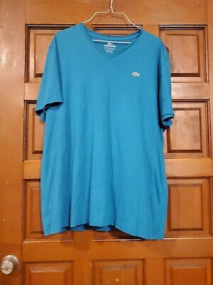 Lacoste Sport Mens Size 7 xl teal Blue T Shirt.