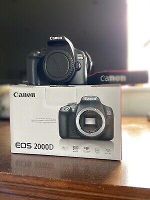 Canon EOS 2000D Digital SLR Camera - Black (Body Only)