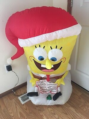 Gemmy Christmas Airblown Inflatable Spongebob Caroling Indoor Blow Up 3 - Inflatable Spongebob
