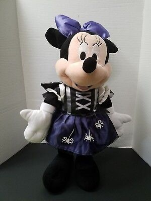 Disney Minnie Mouse Purple Witch Costume Halloween Plush Doll Stands 24