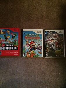 3 Mario Wii Game Lot