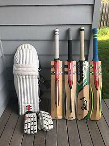 Cricket bats, pads and gloves for individual sale Reservoir Darebin Area Preview