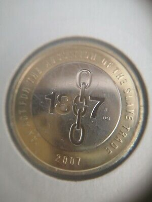 2007 ABOLITION OF THE SLAVE TRADE 2 TWO POUND COIN BU BUNC (DG MARK)