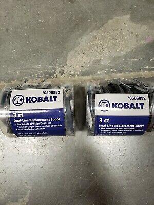 Kobalt Dual Line Replacement Spool 3pk 0.065