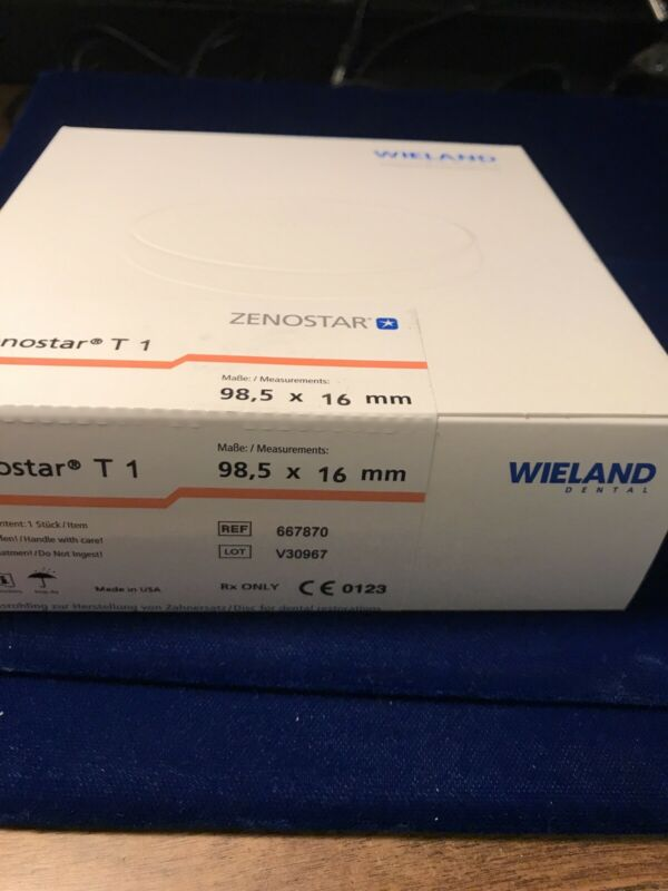 Wieland Dental Zenostar T1 98.5 mm X 16mm Ref. 667870