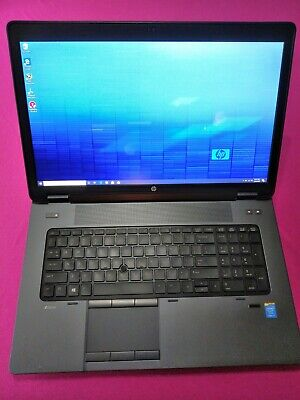 HP ZBook 17 G1 laptop I7-4810mq 2.8-3.8Ghz 12GB ram 480GB SSD AMD M390X S7100X