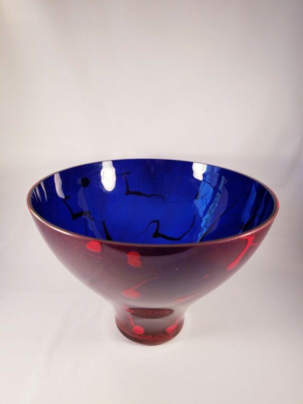 Rony Plesl Modern Czech Art Glass Vase Signed
