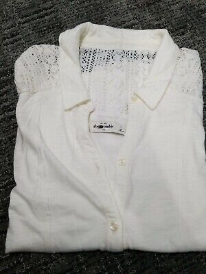 Abercrombie & Fitch Women's Sexy Top L Ivory in great condition