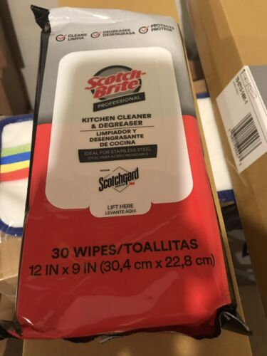 3m Scotchbrite Kitchen Stainless Steel Cleaner Degreasing Wi