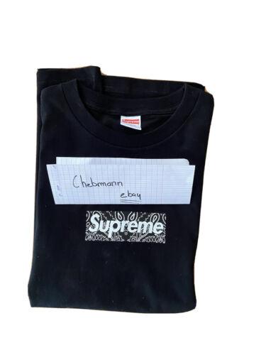 Supreme bandana black box logo tee size m