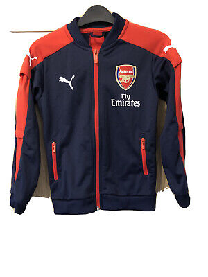 Arsenal Puma Tracksuit Top Size 7-8 Years