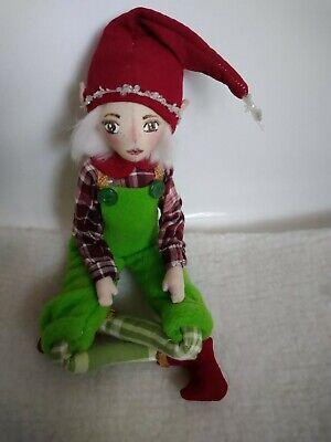 SALE !!OOAK Handmade, Christmas Elf, Santa's helper, Pixie, Christmas decoration ()