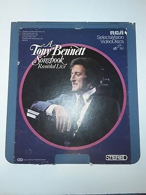 A Tony Bennet Songbook RCA Selectavision Video Disc CED VideoDisc